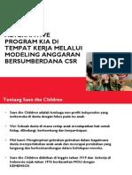 Alternatif Program KIA di Tempat Kerja melalui Modeling Anggaran CSR di Kota Bandung