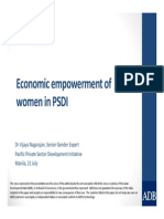 Economic empowerment of women in PSDI