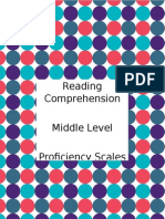 Free Reading Comprehension Rubric Sed i Table