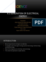 8.1 the Generation of Electrical Energy