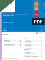 Exam timetable CIE Nov 2015 (Zone 4)
