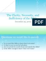 The Clarity Necessity and Sufficiency of Scripture