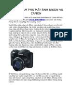 Cùng khám phá máy ảnh Nikon Và Canon