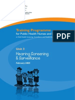 Unit 3 Hearing Screening and Surveillance