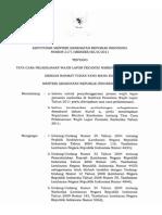Kepmenkes No 2171 Tahun 2011 Tata Cara Pelaksanaan Wajib Lapor