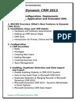 Microsoft Dynamic CRM 2013-11 Training & Certifications
