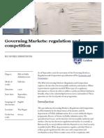 Universiteit Leiden Master Governing Markets Regulation and Competition en 20150812