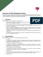 Summary Risk Management Framework