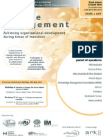 Achieving organisational development during times of transition