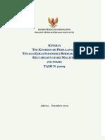 Kinerja TK-PTKIB Tahun 2009