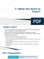 SEC What You Need to Know