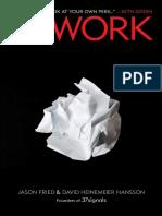 Rework by Jason Fried and David Heinemeier Hansson - Excerpts