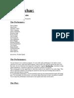 2003 Bacchae Programme - Work In Progress