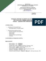 Tematica TD 2015