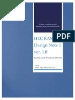 Exporting Civil3D toH EC RAS Ver1.0
