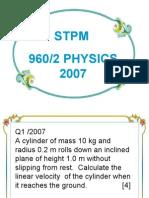 Stpm 960/2 Physics 2007