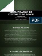 Simplificación de Funciones de Boole