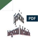 Integral Indefinida guia de ejercicios
