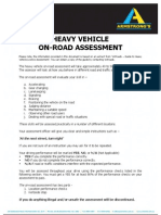 Heavy Vehicle Onroad Assessment