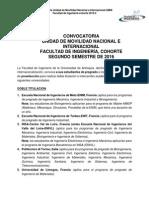 Convocatoria Doble Titulación e Intercambio Académico-cohorte 2016-2