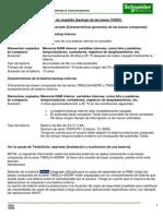 Información Sobre Las Baterías de Respaldo (Backup) de Las Bases TWIDO