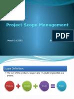 Project Scope Management- PMP