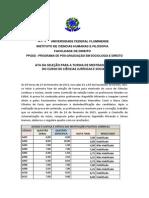 Ata Da Seleu00c7u00c3o de Mestrado Ppgsd - 2015 - 1 Fase