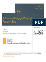 Staffing Industry Analysts - Best Practices in Managing and Analysing Services Procurement Spend - June 6 2012