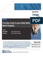 Staffing Industry Analysts - From Easy to Hard - A Look at Global Staffing Market Complexity - 14 Mar 2012