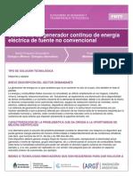 Desarrollo de Generador Continuo de Energía Eléctrica de Fuente No Convencional