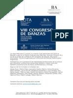 Gacetilla VIII Congreso de Danzas (1)