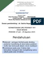 Ppt Adenoiditis Fix