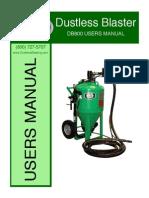 Manual Dustless Blasting - Db800-Instruction-manual