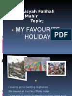 Aisyah Falihah My Favourite Holiday