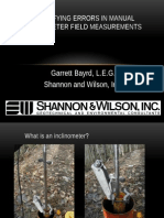 Quantifying Errors in Manual Inclinometer Field Measurements