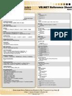 Vbnet Basics Reference Sheet