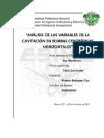 9. Analisis de las variables de la cavitacion en bombas centrifugas Horizontales.pdf