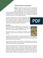 Actividad Economica de Guatemala