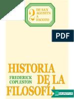 Historia de La Filosofia 2 de San Agustin a Scoto