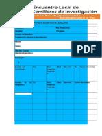 Formato Actualización de Semillero 2015