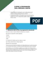 Diferencias Entre La POO y La Programación Estructurada