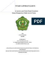 Laporan Kasus Fistula Preaurikula