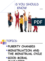 Things You Should Know (Puberty Powerpoint Presentation)