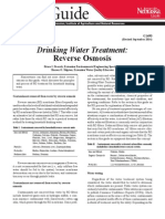 Drinking Water Treatment_Reverse Osmosis