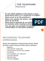Telephone Expressions