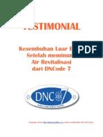Testimonial Air Minum DNC 7
