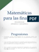 Progresiones Aritmetica y Geometrica
