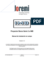 SPC IMB Barco Projector Installation Manual 003680 v1 0