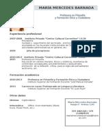 C.v. Sintetizado y Carta de Presentación Para METANOIA