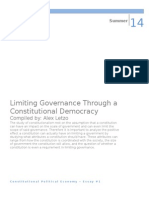 Limiting Governance Through a Constitutional Democracy
